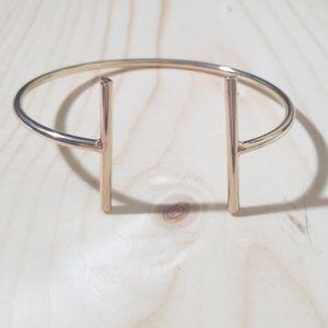 Gold open cuff minimalist braclet